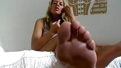 german Milf humilat you Feet POV
