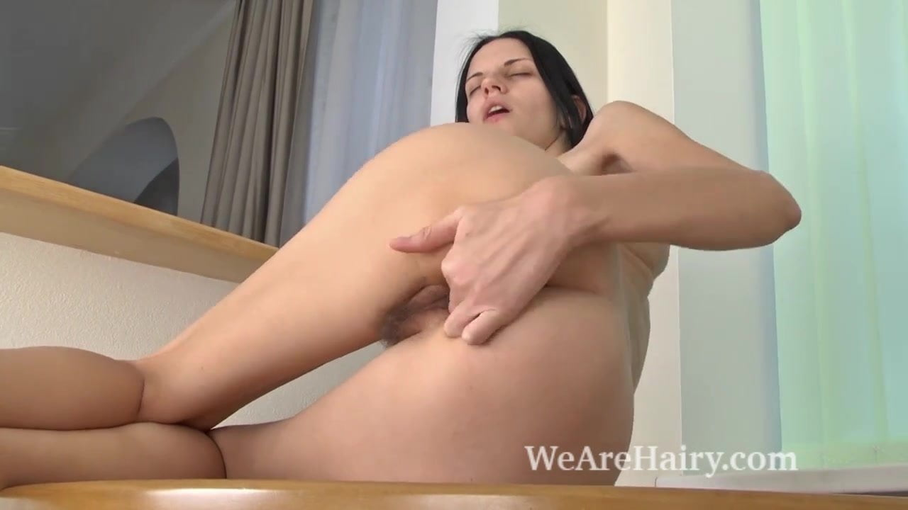 wearehairly.com Sosha Belle masturbates with her new purple toy