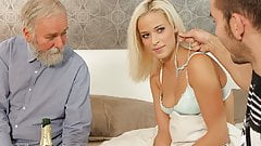 DADDY4K. Naughty dad dragged son's girl into unexpected...