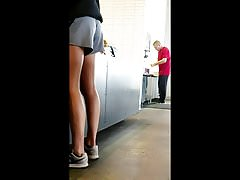Candid Fit Athletic teen legs