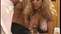 Victoria paris in white lingerie  fucks Peter North