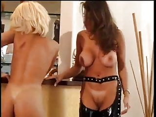 Bored Blonde Beauty Calls Girlfriend For Lesbian Domnation
