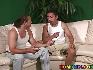 Preview 1 of White dude gets anal banged by black men