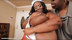 Busty Black BBW Mz Diva Nurses A Huge Cock