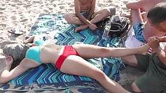 Sexy Massage on New York Public Beach