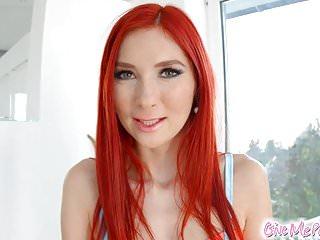 Redhead spotty Kattie Gold masturbation on Give Me Pink