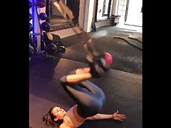 Nina Dobrev Workout - Butt Shots and Major Cameltoe