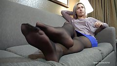 Chyna Sheer Wolfords Pantyhose Footplay