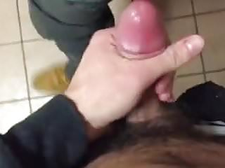 He is fucked in the office toilet by his boss