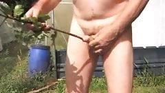 straight transvestite outdoors sounding urethral fetish gard