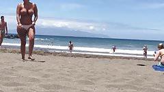 Big tits at beach