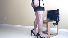 Beige Stockings & Corset