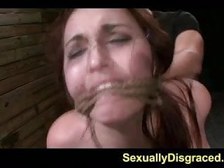 Bound For Submission Stella May Orgasms On A Huge Dick