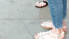 Candid feet - two Polish girls