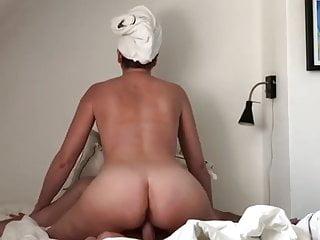 Sexy wife riding