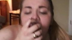 White wife throats BBC (Big Black Club)