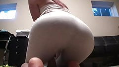 In pants ass over yoga bent Girls