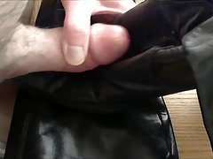 Leather Boots Heels Cum Explosion