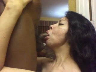 Hungry milf gives head to bbc
