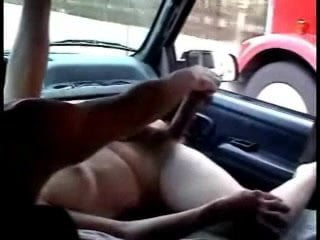 Naked woman truck driver