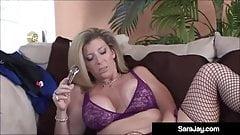 Horny Milf Sara Jay Lesbo Bangs Ebony Babe Aryanna Starr!