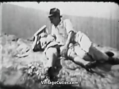 Hairy Hitchhiker Girl Fucked Outdoors (1930s Vintage)