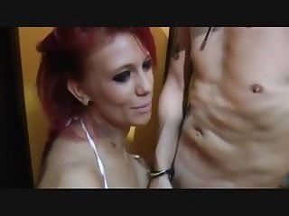 Blowjob and facial in the dressing room