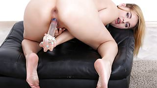 Jessica Spielberg playing with a toy