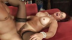 Mature With Tanlines Gets Her Hairy Pussy Jizzed