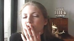 Sexy Vannesa Smoking Cigarette #1