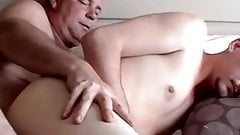 Fat mature amateur breeding with sexy younger dude