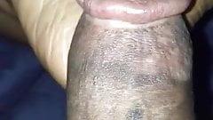 Slapping my dick on my feet & leg!
