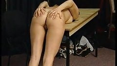 Cute girl caned