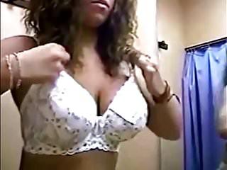 Fitting room pretty boobs