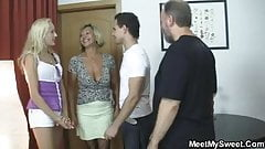 His parents and his girl get it on