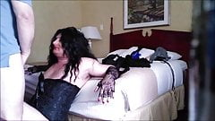 Sexy CD Sucking Cock at a Motel