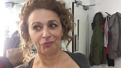 Nadia Sawalha Flashing Big Tits