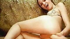 Horny Blond Fucks Sucks a Dildo