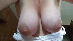 Wife's BIG Saggy Natural Tits - for your wanking pleasure