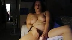 60 year old granny with hot body getting herself off