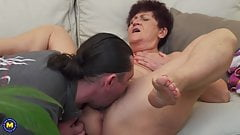 Granny Karina fucked by son in law