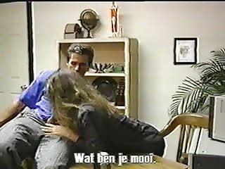 Peter North fucks Tamara Lee over a desk - Rare scene