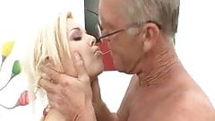 Hot Young Blonde Makes Geezer Feel Young Again!
