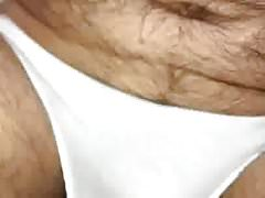 Expelling a piss enema in my white cotton panties