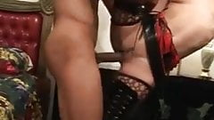 Asian slut in boots and sexy stockings riding big cock moan
