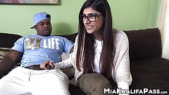 Irresistible Mia Khalifa riding BBC after blowjob