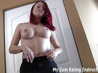 Jerk off twice and eat both loads of cum CEI