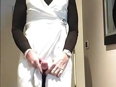 white dress cum