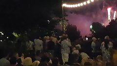 Indian ass watching fireworks display's Thumb