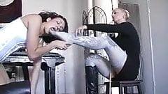 Lesbian slave worship mistress feet